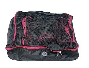 Kit nylon preto com Pink