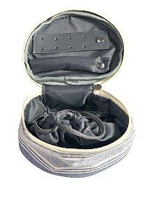 Porta jóias Oval azul listras