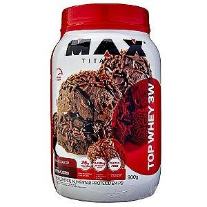 Top Whey 3W Max Titanium Mais Sabor 900g