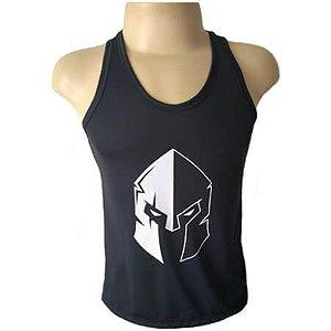 Regata Preta Masculina Cavada Gladiador Top Fitness