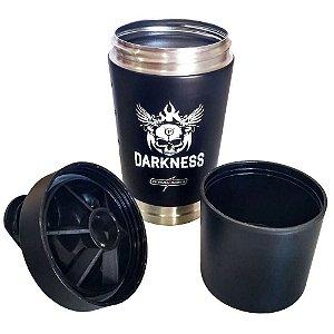 Coqueteleira Aluminio Darkness 2 Doses 590ml
