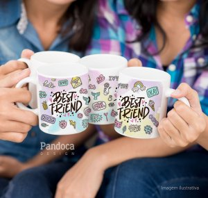 ARTE DIGITAL - Caneca Best Friend