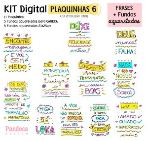 KIT DIGITAL - PLAQUINHAS 6 + FUNDOS