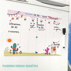 Placa SEMANAL Magnética + Caneta