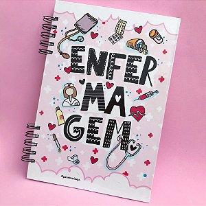 Caderno ENFERMAGEM | rosa claro