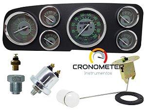 Painel Fusca Itamar / Fafá 200km/h Cronomac Completo COM Sensores e Boia de Braço - Verde