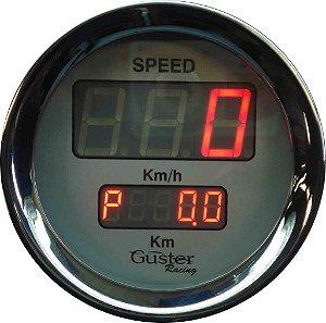 Velocímetro 85mm Eletrônico Digtal Total/Parcial - VO-30 Vermelho | Guster