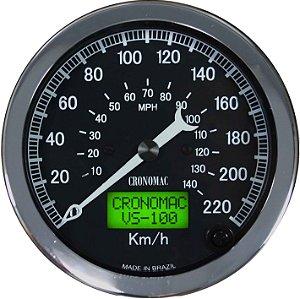Velocímetro 220km/h ø100mm Eletrônico Jaguar | Cronomac