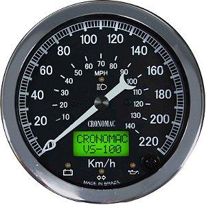 Velocímetro 220km/h ø100mm Eletrônico COM SINALEIRA Jaguar | Cronomac