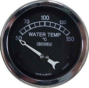 Termômetro Água ø52mm 12V com Sensor Jaguar   Cronomac