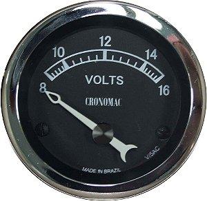 Voltímetro ø52mm 12 Volts Jaguar | Cronomac