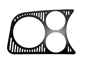 Grade Painel Fusca L.E. 3 Furos - 1 de 80mm e 2 de 52mm Metal
