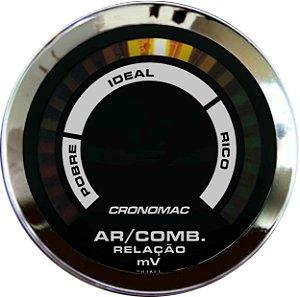 Hallmeter 52mm Faixa Cromado Preto| Cronomac