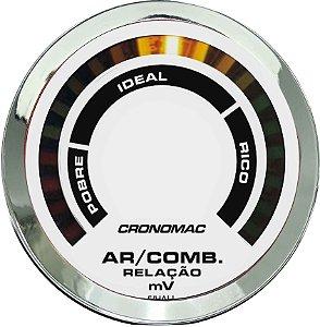 Hallmeter 52mm Faixa Cromado Branco | Cronomac