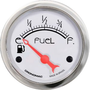 Indicador Nível de Combustível ø52mm 097 Hot Silver| Cronomac