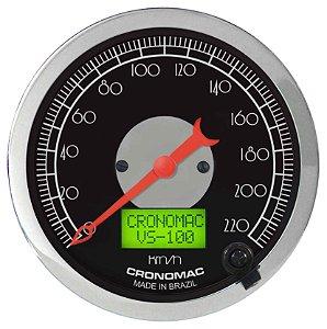 Velocímetro 220km/h ø100mm Eletrônico Hot Black | Cronomac