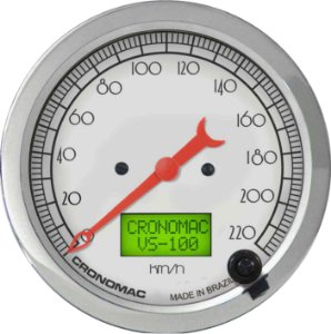 Velocímetro 220km/h ø100mm Eletrônico Hot Silver| Cronomac