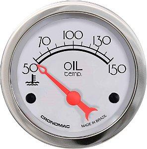Termômetro Óleo ø52mm 12V com Sensor Hot Silver | Cronomac