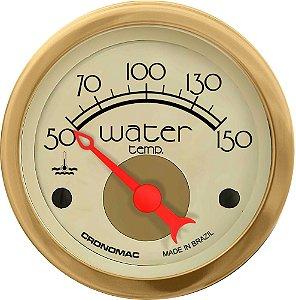 Termômetro Água ø52mm 12V com Sensor Hot Gold | Cronomac
