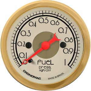 Manômetro Combustível 1KGF/CM² ø52mm Hot Gold | Cronomc
