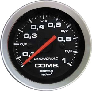 Manômetro Combustível 1KGF/CM² ø52mm Sport | Cronomac
