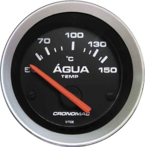 Termômetro Água ø52mm 12V com Sensor Sport | Cronomac