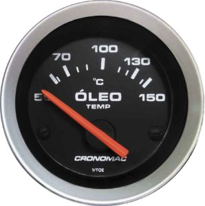 Termômetro Óleo ø52mm 12V com Sensor Sport | Cronomac