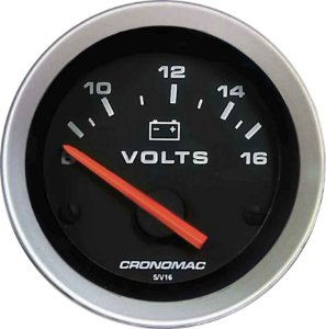 Voltímetro ø52mm 12 Volts Sport | Cronomac