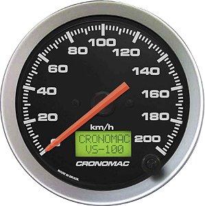 Velocímetro 200km/h ø100mm Eletrônico Sport | Cronomac