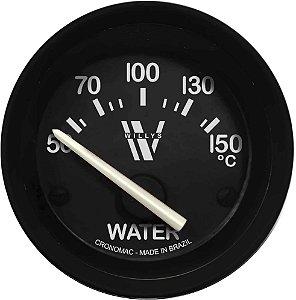 Termômetro Água ø52mm 12V com Sensor Willys | Cronomac