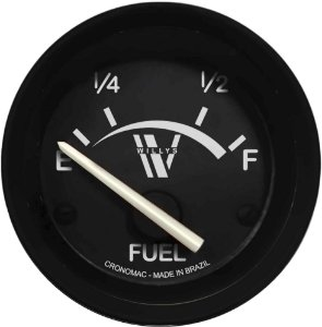 Indicador Nível de Combustível ø52mm 097 Willys | Cronomac