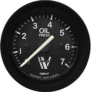 Manômetro Óleo 7KGF/CM² Mecânico ø52mm Willys | Cronomac