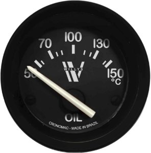Termômetro Óleo ø52mm 12V com Sensor Willys | Cronomac