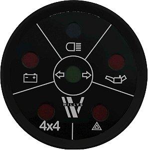 Sinaleira de Funções ø52mm 4X4 Willys | Cronomac