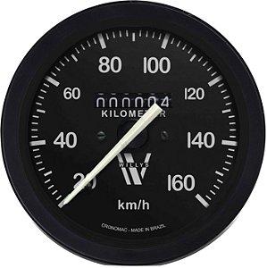 Velocímetro 160km/h ø85mm Willys | Cronomac