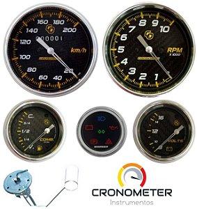 KIT 5 Instrumentos ø100mm/60mm Fibra de Carbono | Cronomac