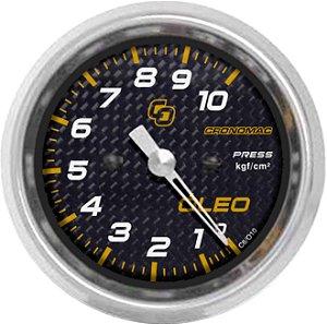 Manômetro Óleo 10KGF/CM² ø60mm Carbono | Cronomac