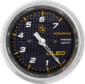 Manômetro Óleo 7KGF/CM² ø60mm Carbono | Cronomac