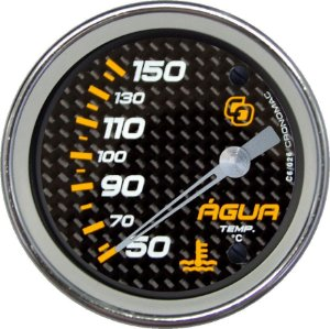 Termômetro Água ø60mm 12V com Sensor Carbono | Cronomac
