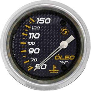 Termômetro Óleo ø60mm 12V com Sensor Carbono | Cronomac