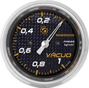 Vacuômetro ø60mm 1KG Carbono | Cronomac