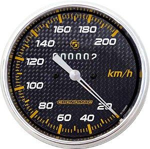Velocímetro 200km/h ø100mm Carbono | Cronomac