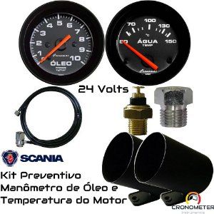 Kit Preventivo Scania 24volts | Street/Preto | Cronomac