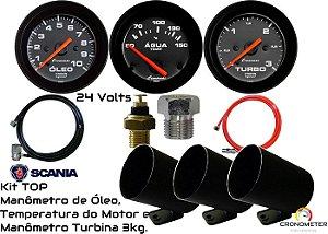 Kit TOP Scania 24Volts | Street/Preto | Cronomac