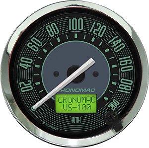 Velocímetro 200km/h ø100mm Eletrônico Fusca Verde | Cronomac