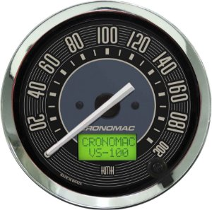 Velocímetro 200km/h ø100mm Eletrônico Fusca Bege| Cronomac