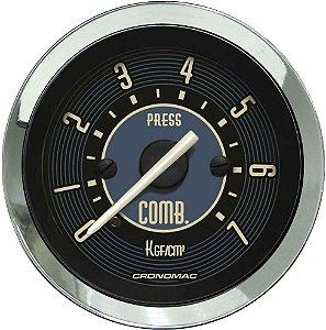 Manômetro Combustível 7KGF/CM² ø52mm Fusca Bege | Cronomac