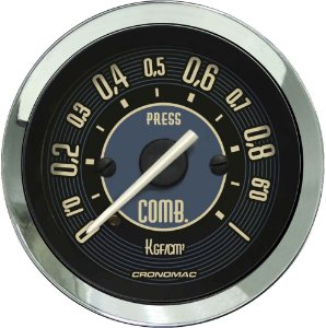 Manômetro Combustível 1KGF/CM² ø52mm Fusca Bege | Cronomac