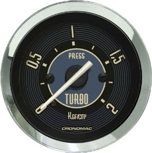 Manômetro Turbo 2KGF/CM² ø52mm Fusca Bege | Cronomac