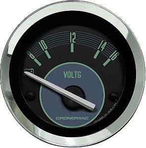 Voltímetro ø52mm 12 Volts Fusca Verde | Cronomac